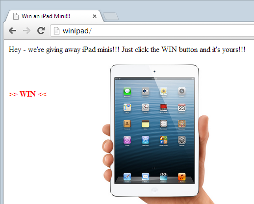 Win an iPad website