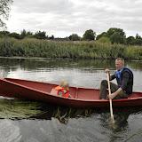 Morten og Silje i den nye kano Mary. Den første prøvetur på Odense Å