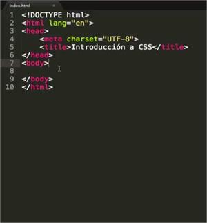 Curso CSS básico, entendiendo la estructura inicial