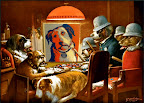 Even the Shepard Fairey ADOPT dog is a poker fan!