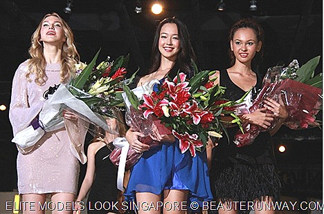 Fiona Fussi Elite Models Looks Singapore Winner, Putri Diana Abdullah, 1st runnerup  Louise Arild 2nd runnerup