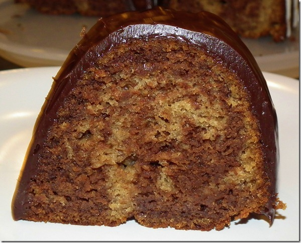 Choco-Banana Marble Bundt Cake 10-25-11
