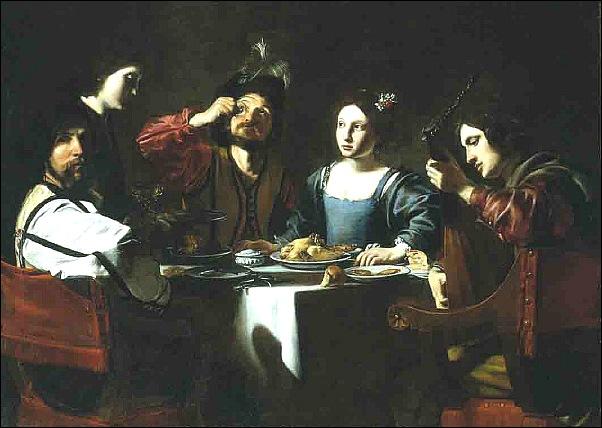 Nicolas Tournier, Scène de banquet