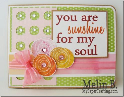 sunshine for my soul card-490