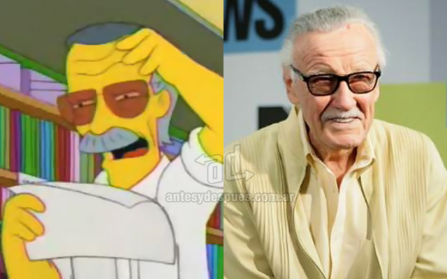 Foto de la version Simpson de Stan Lee