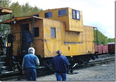 Weyerhaeuser Woods Railroad (WTCX) Caboose #4 at Longview, Washington on May 17, 2005