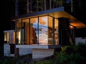 Moderna-casa-de-hormigon-y-madera