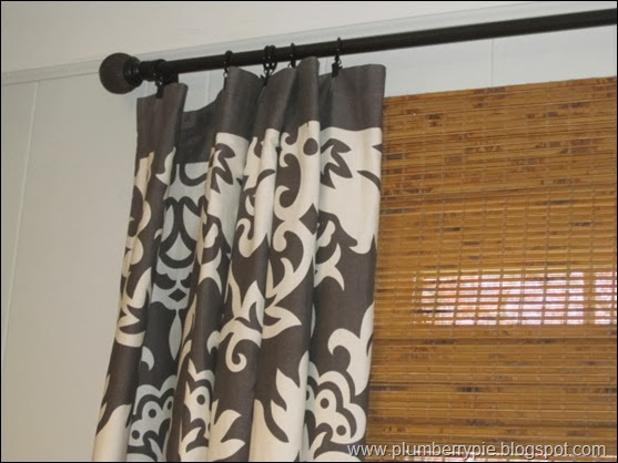 plumberry pie bamboo shades layered curtains