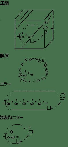 アザラシ 圧縮 解凍 エラー (帰宅部活動記録)