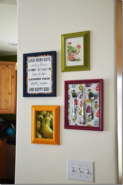 Smile Like You Mean it: Kitchen Gallery Art Wall