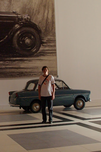 I pose in front of the Daf 600