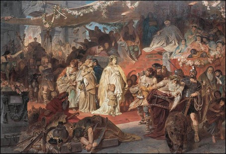 Thusnelda in triumph of Germanicus (1873)
