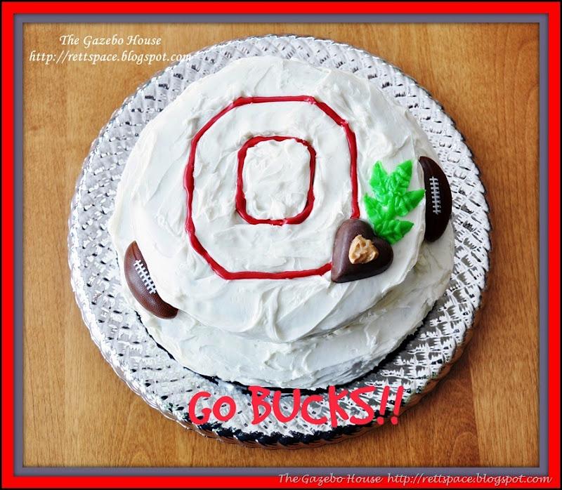OSU  cake, pancakes & snow in arch window 006.jpg framed