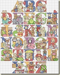 Disegni-punto-croce-alfabeto-orsetti