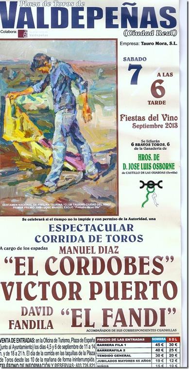 Cartel Valdepeñas 2013