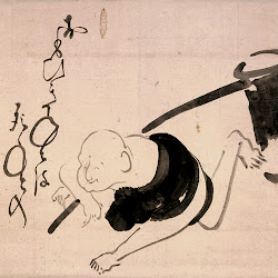 Hakuin, Hotei with a Mallet