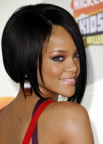 Rihanna black short hairstyles