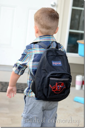 Add an applique to a basic backpack to make it fun for your kids!