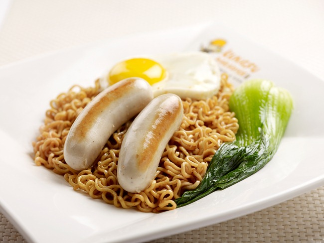 Dry Noodles with Chicken Chipolata - RM 10.90