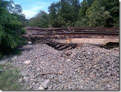 Daños en la línea de Port Jervis