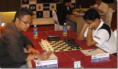 IM Mas Hafizulhelmi vs IM Das of India, round 1 Masters