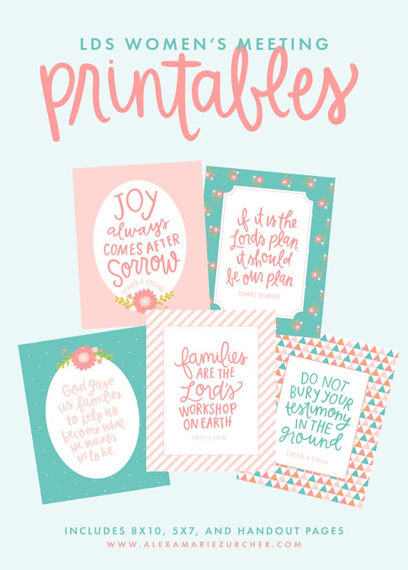 lds conference printables