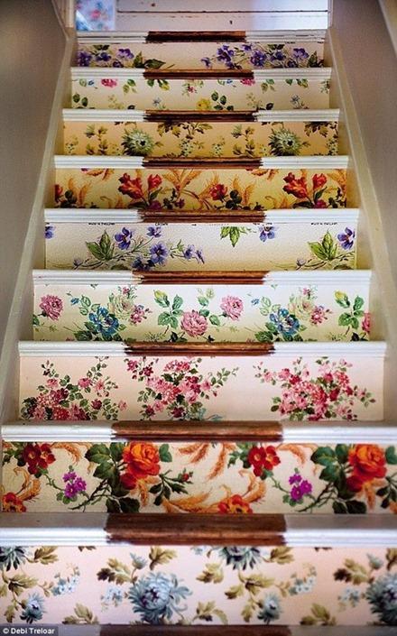 Tapetserad trappa, Pinterest