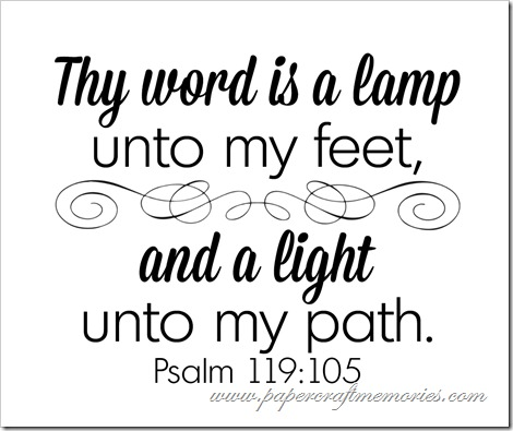 Psalm 119:105 WORDart by Karen for personal use