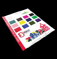 Muestrario de colores de Poliester Delgado