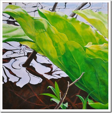 skunk cabbage painting