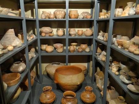 Obiective turistice Piatra Neamt:  seif vase Cucuteni