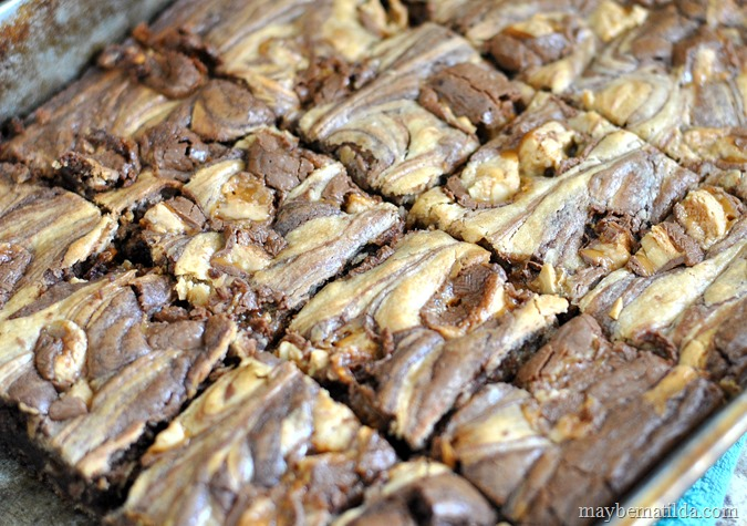Peanut Butter Swirl Snickers® Brownies