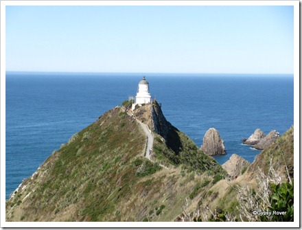 Nugget Point lighthouse.