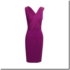 Harmony RUCHED DRESS MAGENTA