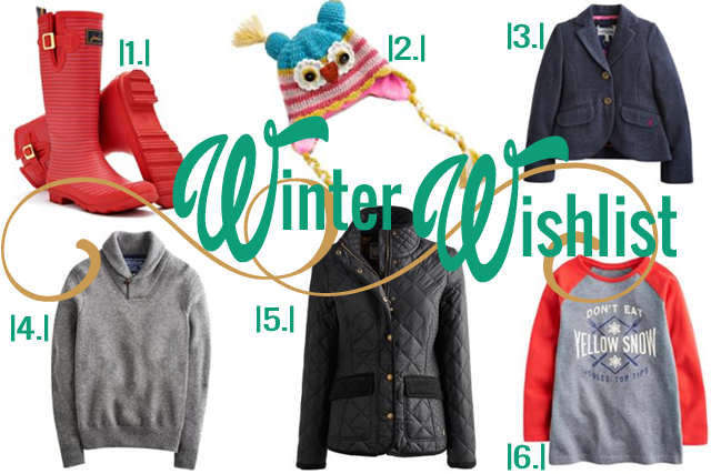 Joules Winter Wish List