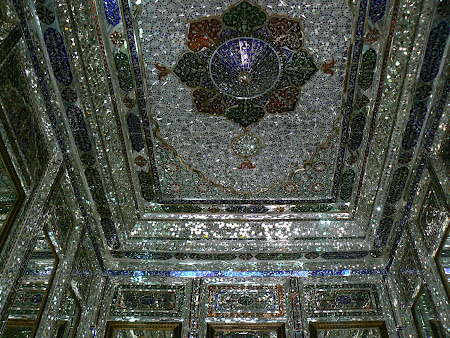 Incredible ceiling of Shiraz