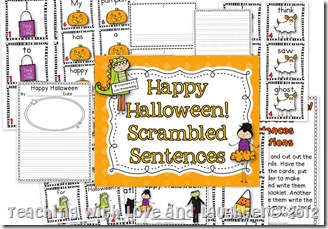 Halloween Scrambled Sentences Preview