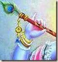 [Krishna holding His flute]