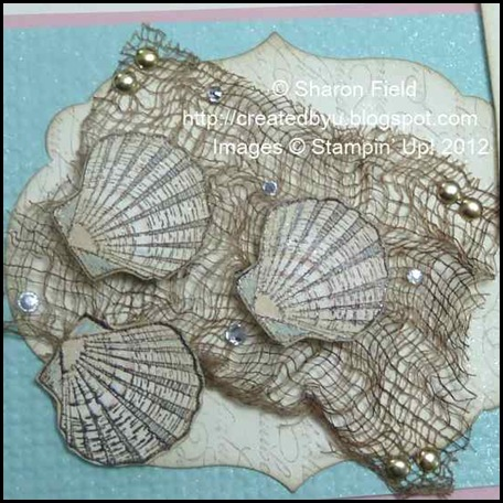 blinged background and labels collection die cuton shell card