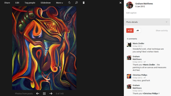google plus artists