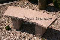 Rock-Face Curved Bench 60x15xH18 Giallo Dark