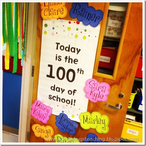 Doodle bugs teaching first grade rocks 1 1 12 for 100th day of school decoration ideas
