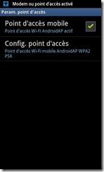 Utiliser la fonction modem wifi du Samsung galaxy s2