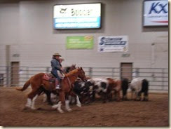 Trina and I loping in pairs
