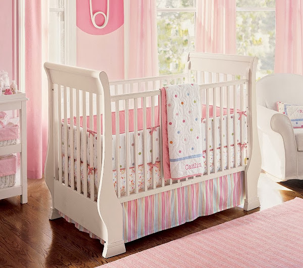 Nice Pink Bedding For Pretty Girls Nursery From Prottery Barn 8 Baby Girl Nursery