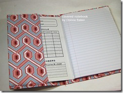 covered notebook inside