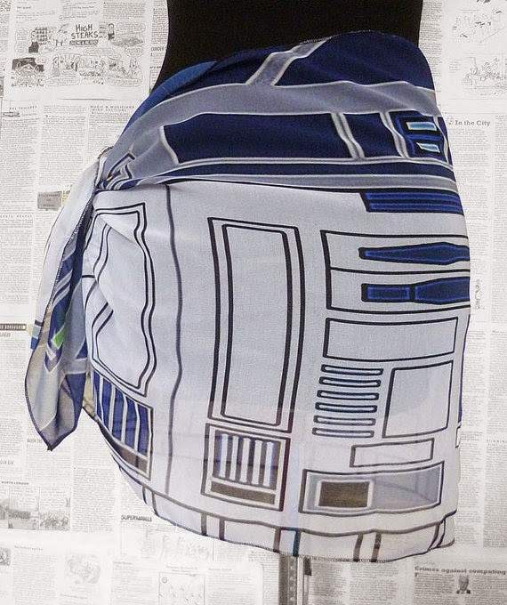 Star Wars R2D2 Sarong from Rooby Lanwe