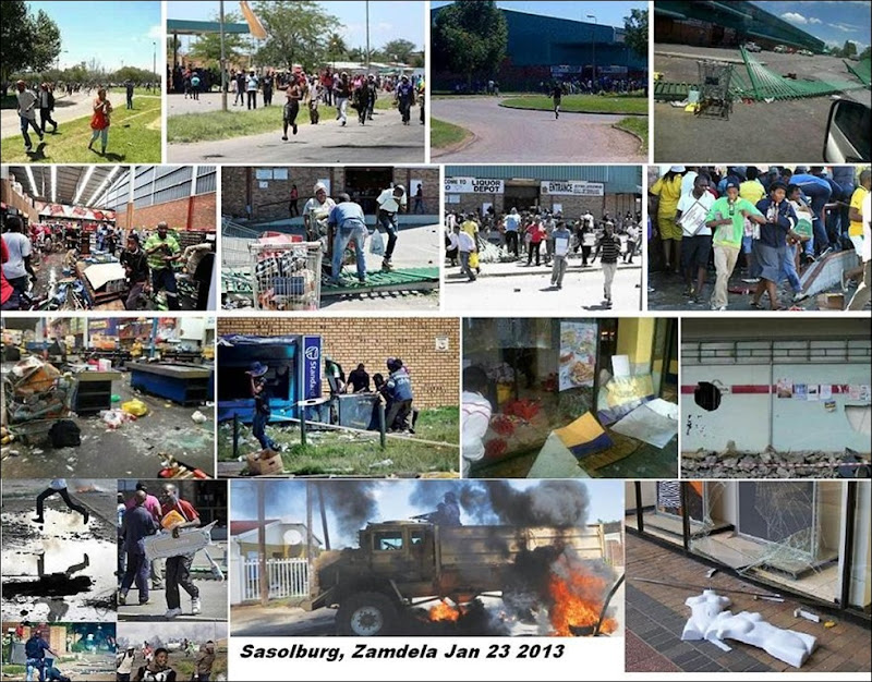 SASOLBURG THE STREETS LOOTERS VIOLENCE NO COPS JAN232013