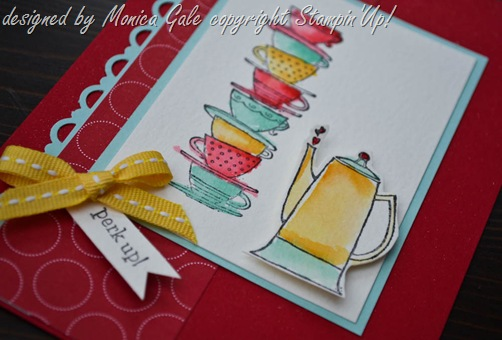 Stampin Up Morning Cup close