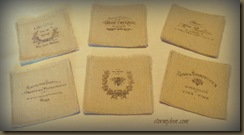 Fabric Coasters--French Grain sack style
